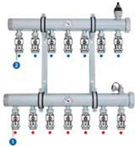 114-1 Colector distribución sistema industrial