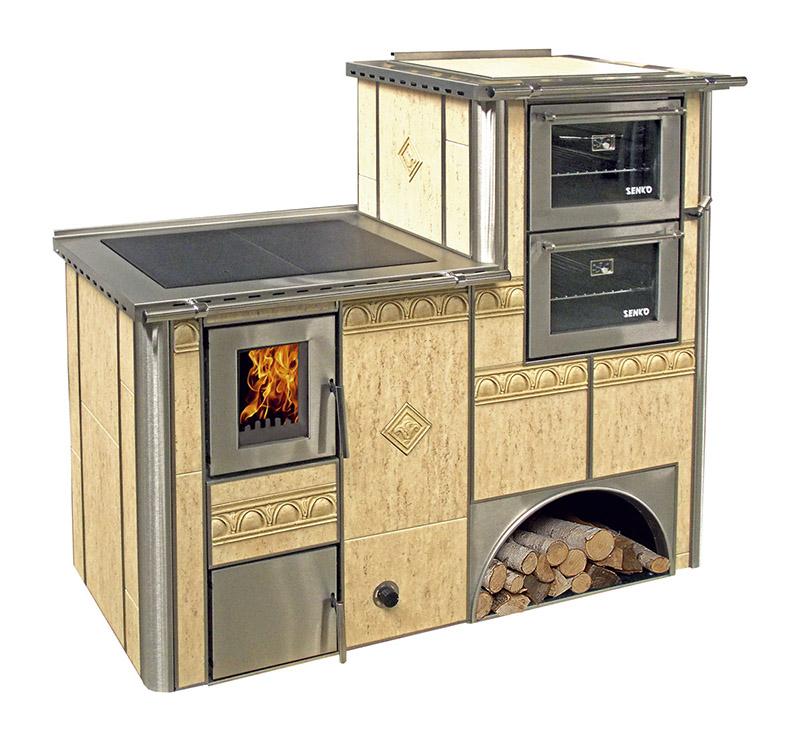 Cocina de le a calefactora doble horno exclusive line - Cocinar horno de lena ...