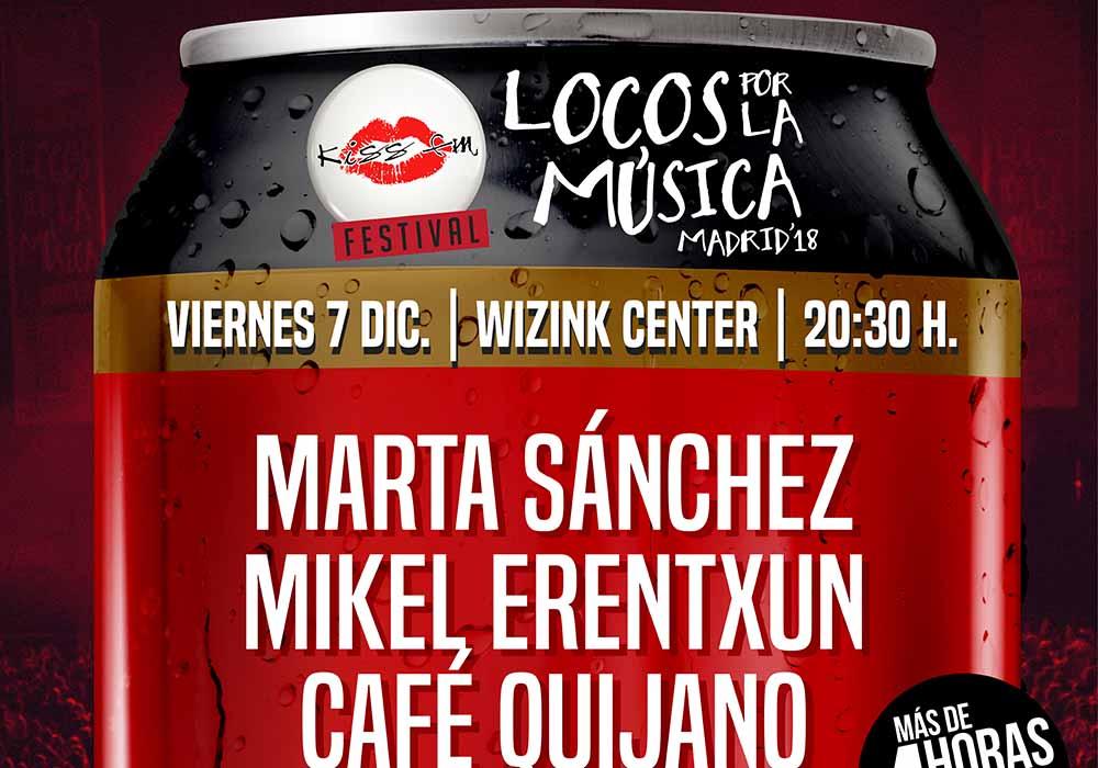 """Consigue dos entradas GRATIS para el Festival """"Locos por la música"""" de Kiss FM"""