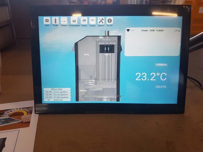 7-Control nuevo Generador de aire caliente
